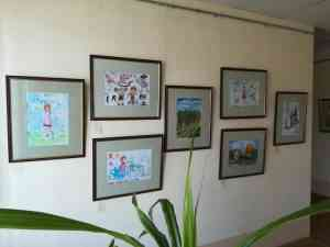 """Выставка творческих работ участников конкурса """"Вверх по радуге"""""""